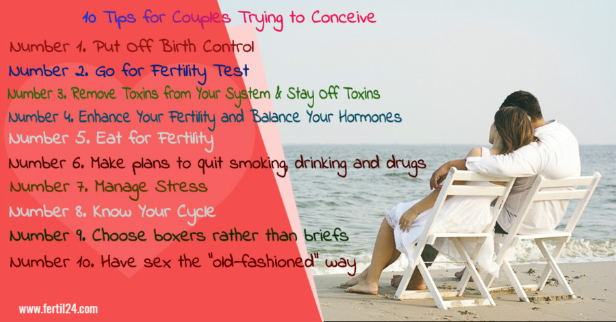 10 tips for couples trying to conceive